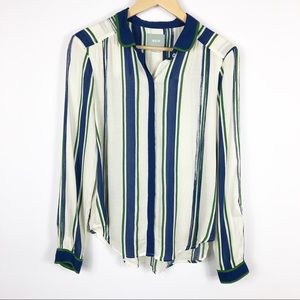 Anthropologie Maeve Long Sleeve Button Up Size 6